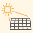 Solar panels absorb that energy