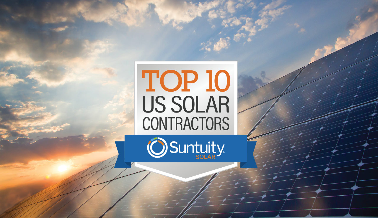 Suntuity Solar Listed Among Top 10 Residential Solar Contractors in the US
